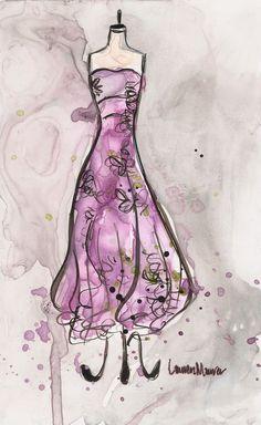 Vintage Lavender Romance Dress by Lauren Maurer