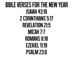 Bible verses for the new year.