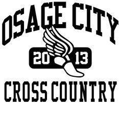 IZA DESIGN custom cross country team shirts.  School Cross Country Team T-Shirt Design - New Vintage (desn-519o8).  Specializing in custom cross country tshirts for 30 years.