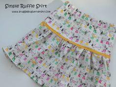 Snugglebug University: Simple Ruffle Skirt Tutorial
