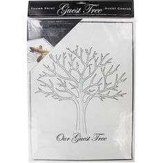 Thumb Print Guest Tree Canvas // ONLY £3 // Whatever the celebration a guest tree can be a wonderful and everlasting keepsake of your day and an alternative to a traditional guest book.   Your guests simply use the ink pads provided to add their finger/thumb prints as leaves on the tree and sign their names. Then once the day is over you are left with a beautiful piece of art to remember the occasion.