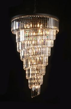 Shop for Retro Odeon Empress Crystal Glass Fringe Helix 7 -Tier Spiral… Foyer Chandelier, Beaded Chandelier, Chandelier Lighting, Empire Chandelier, Ring Chandelier, Chandelier Ideas, Crystal Chandeliers, Crystal Uses, Gallery Lighting
