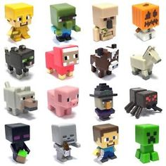 Minecraft Single Mini Figure Unlimited Chest Series 3 *Choose Your Favourite*, Lego Minecraft, Minecraft Party, Minecraft Mini Figures, Minecraft Birthday Cake, Mine Minecraft, Minecraft Bedroom, Clay Crafts, Cool Toys, Creations