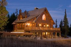 Log Cabin in the Woods | http://www.montana-cabins.com/MontanaLogCabins.jpg/MontanaLogCabins ...