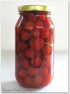 Bottled Cherry Tomatoes with Mint and Garlic | Passion Fruit Garden