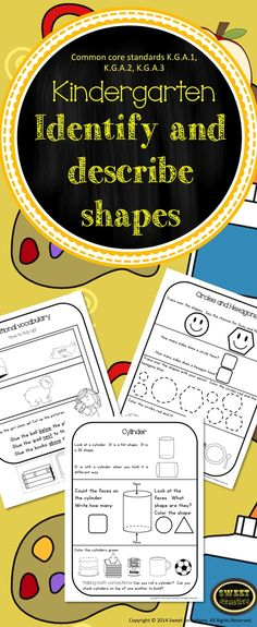 Identify and describe 2d and 3d shapes