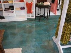 Make a Splash with Water-Inspired Concrete Floors: Progressive Concrete Coatings Wilmington, NC Floor Stain, Floor Finishes, Basement Flooring, Bedroom Flooring, 3d Flooring, Basement Bathroom, Acid Stained Concrete Floors, Cement Floors, Floor Design