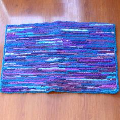 I just listed Purple Blue Recycled Locker Hooked Throw Rug on The CraftStar @TheCraftStar #uniquegifts