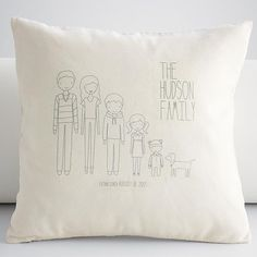 Red Envelope Personalized family members square throw pillow cover $59.95 for an 18 x 18 (Also have wall art)