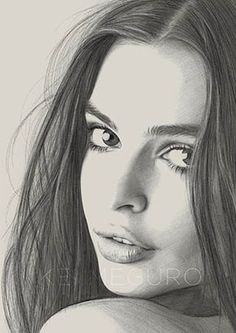 Portrait Mastery - Beautiful drawing by Kei Meguro Discover The Secrets Of Drawing Realistic Pencil Portraits Face Pencil Drawing, Pencil Drawing Images, Drawing Faces, Pencil Art, Drawing Sketches, Art Drawings, Sketching, Drawing Tips, Amazing Drawings