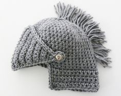 Knight Helmet Hat Crochet Slouch Mens Convertible Beanie Hat Handmade Winter Men Snowboard Ski Hat unisex. $39.00, via Etsy.