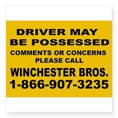this is a supernatural bumper sticker
