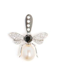 YVONNE LEON | 18k Gold, Diamond and Sapphire Bee Earring // London Jewelers, Manhasset, New York