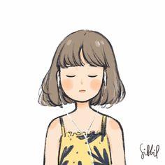 59 New Ideas For Anime Art Sketch Manga Kawaii Cartoon Art Styles, Cute Art Styles, Aesthetic Drawing, Aesthetic Art, Korean Aesthetic, Kawaii Drawings, Cute Drawings, Arte Indie, Tmblr Girl