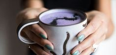 Relax with a latte after a mani/pedi or