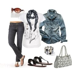 Casual Black & White, created by heather-rolin.polyvore.com
