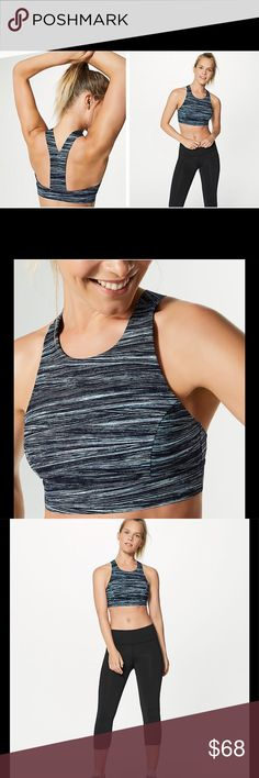 NWT Lululemon Fast and Free Bra Feel supported—and secure—whether you're doing burpees, push-ups, or running in this bra thanks to its high neckline. Lulu made it using super soft, sweat-wicking, and four-way stretch Nulux™ fabric so the high coverage feels luxurious against your skin. Slim racerback gives your shoulders full range of movement. Slip in optional, removable cups for additional coverage—if you want it. Intended to provide medium support for sweat-enthusiasts with a B/C cup…
