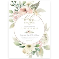 Blush Pink Baby Shower Invitation | Forever Your Prints