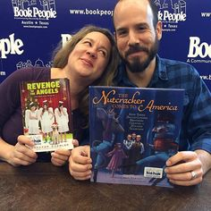 """Jennifer Ziegler & Chris Barton (aka the cutest couple in the book biz) BOTH have holiday-themed books out this year! Ziegler's chapter book is full of high-energy triplet hijinks and plenty of charm. Barton's new picture book tells the story of how we came to know and love the classic holiday ballet The Nutcracker here in the States."""