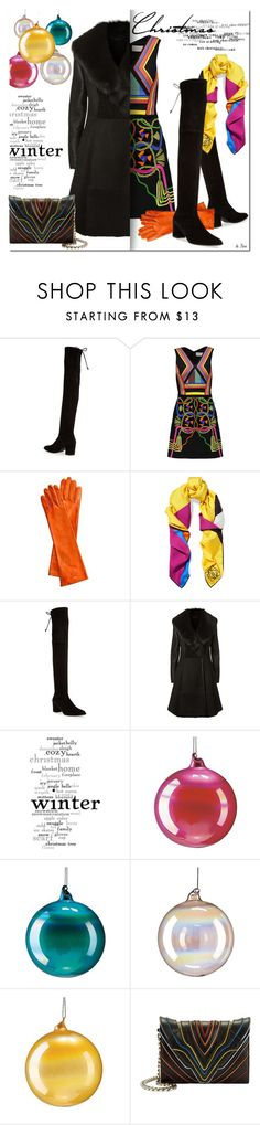 """COLORFUL WINTER"" by deneve ❤ liked on Polyvore featuring Stuart Weitzman, Peter Pilotto, Mark & Graham, Loewe, Elie Tahari, WALL, Jim Marvin, Frontgate, Elena Ghisellini and winterfashion"