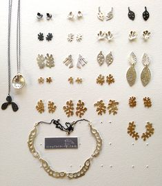 Grace Matsumoto + Tiny Fat Bird Studio, Seattle WA. FW2015 Silhouette Line Sheet No. 1. Brass + Recycled Sterling.