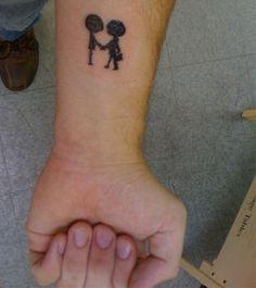 Radiohead tattoo, Shaking Hands...love it...