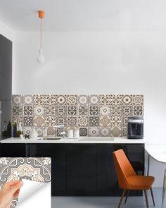 Kitchen decals 24 PC Set Retro Vinyl Tile Sticker Bathroom mural Decor BS20 | eBay