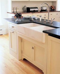 Love the sink & the soap stone countertop