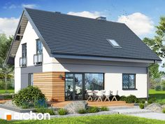 Projekt domu Dom w malinówkach 11 - ARCHON+ Modern, Exterior, Outdoor Decor, Home Decor, Sweden House, Trendy Tree, Decoration Home, Room Decor, Outdoor Rooms