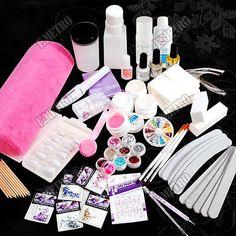 XXL PRO Kit complete de manucure UV gel strass 27 en 1