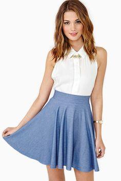 Summer Love Skater Skirt  a-line skirt, sitting at the waist. #ostomy #ostomate #nastygal