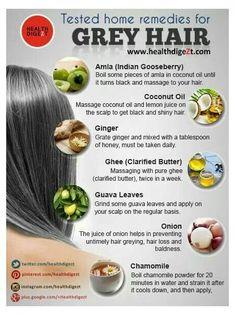 grey hair care tips