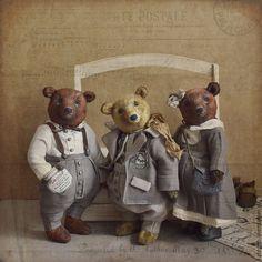 Купить Венди Браун. - коричневый, teddybear, мишка, тедди, лен, льняная одежда, мишка в платье