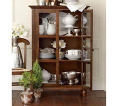 Storage Furniture - Tivoli Glass Cabinet | Pottery Barn - glass fronted china cabinet, glass front china cabinet, glass fronted wooden cabin...