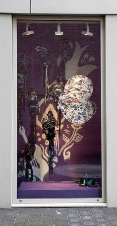 Etalage ontwerp - iris Steevens in samenwerking met Marit van Nunen