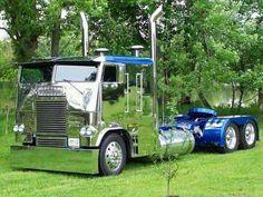 Chrome cab over Big Rig Trucks, Show Trucks, Dump Trucks, Old Trucks, Freightliner Trucks, Peterbilt 379, Dually Trucks, Pickup Trucks, Custom Big Rigs
