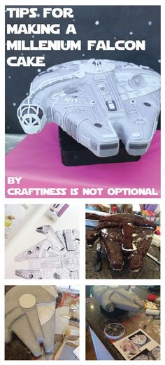 I thought this cake deserved a post of it's own. amiright? Plus I have some tips on what to do/what not to do and thought I'd share them for any future millenium falcon cake enthusiasts. So. I decided