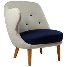 """Armchair """"The Thumb"""" Designed by Arne Norell for Gösta Westerberg, Sweden 