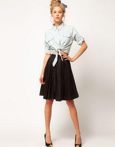 skirt plus tied top