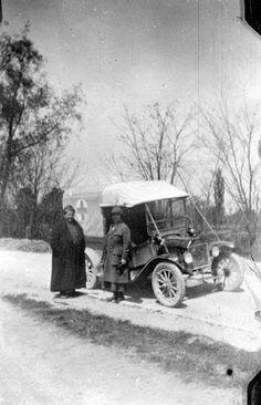 "Gertrude Stein & Alice B. Toklas with their Ford truck ""Auntie"" 1918"