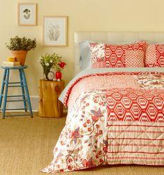 einrichten Bettdecke Patchwork Design Ideen