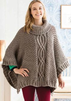 Deramores Cabled Poncho Kit in Studio Chunky – Deramores US