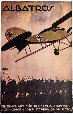 Ludwig Hohlwein, Albatros — Gesellschaft für Flugzeug-Unter-Nehmungen MBH Berlin-Johannistal.