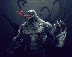 Download hd wallpapers of 204462-fantasy Art, Digital Art, Venom, Spider-Man. Free download High Quality and Widescreen Resolutions Desktop Background Imag
