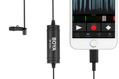 The BY-DM1 is a professional solution for iPhone, iPAD, iPOD TOUCH.   The lavalier microphone captures clear, high-quality sound and directly connects to any iOS device equipment with a Lightning connector.