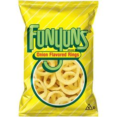 FUNYUNS® Onion Flavored Rings are a deliciously different snack that's fun to eat, with a crisp texture and zesty onion flavor. Next time you're in the mood for a tasty treat that's out of the ordinary, try FUNYUNS® Onion Flavored Rings. Fini Tubes, Gluten Free Onion Rings, Gourmet Recipes, Snack Recipes, Dessert Recipes, Desserts, Frito Lay, Road Trip Snacks, Big Meals