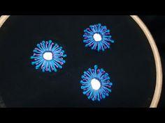 Pistil Stitch Mirror Work (Hand Embroidery Work) - YouTube Embroidery On Kurtis, Kurti Embroidery Design, Hand Embroidery Videos, Hand Work Embroidery, Free Motion Embroidery, Hand Embroidery Stitches, Hand Embroidery Designs, Indian Embroidery, Embroidery Dress
