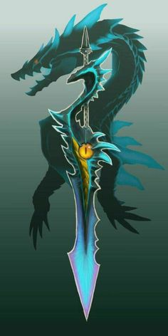Fantasy Sword, Fantasy Weapons, Fantasy Art, Monster Hunter Games, Monster Hunter Series, Monster Hunter 3 Ultimate, Character Art, Character Design, Sword Design