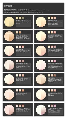 Skin-color reference and color palettes! Digital Painting Tutorials, Digital Art Tutorial, Art Tutorials, Drawing Techniques, Drawing Tips, Cool Designs To Draw, Skin Color Palette, Color Palettes, Coloring Tutorial