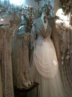 Sheelin Antique lace Shop Lace Gown